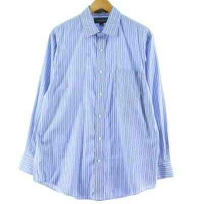 croft & barrow ストライプ ドレスシャツ メンズM /eaa061275