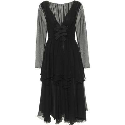 ジャンバティスタ バリ Giambattista Valli レディース パーティードレス ミドル丈 ワンピース・ドレス Silk Georgette Midi Dress Black
