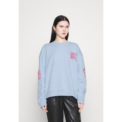 ニューガールオーダー パーカー・スウェットシャツ レディース アウター CHERRY TRIP  - Sweatshirt - blue