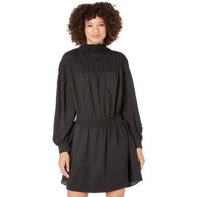 ユニセックス スカート ドレス Long Sleeve Wide Smocked Dress