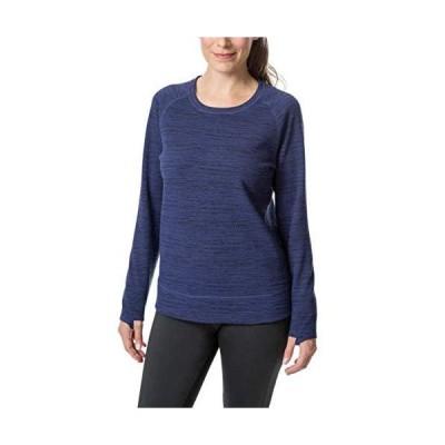 Kirkland Signature Ladies' Crew Neck Pullover, Large Blue Heather並行輸入品 送料無料