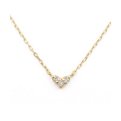 ネックレス 【BLOOM/ブルーム】K10 イエローゴールド ダイヤモンド ハート ネックレス