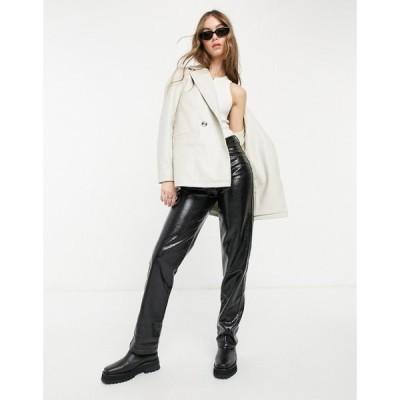 ヴェロモーダ Vero Moda レディース スーツ・ジャケット アウター Croc Leather Look Blazer In Cream クリーム
