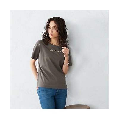 <COMME CA ISM(Women)/コムサ イズム> 《コットン》 ドルマンスリーブ ロゴプリント Tシャツ(1264CT02) 20【三越伊勢丹/公式】