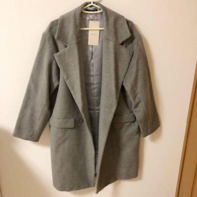 定価13500円 duras デュラス グレー 灰色 Pコート 109 チェスター 大きめ 大きい ボタン ピーコート メンズ レディース ビッグ コート