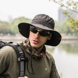 PUSH!戶外用品戶外登山帽折疊遮陽帽夏季速乾漁夫帽H31