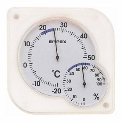 エンペックス シュクレミディ 温湿度計  クリアホワイト TM-5601
