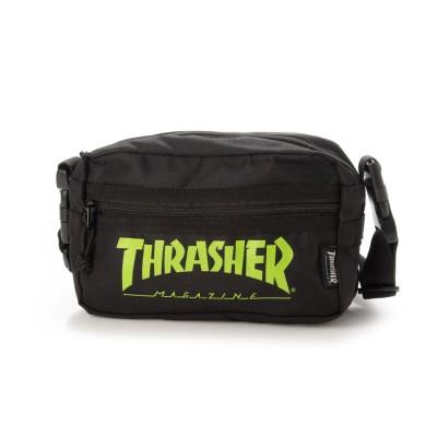 スラッシャー THRASHER THRASHER/スラッシャー ショルダーバッグ (ブラック×ライム)