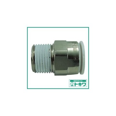 チヨダ ファイブメイルコネクタ W(白)12mm・R3/8 (F12-03MW) 千代田通商(株)