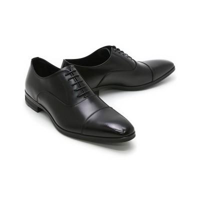 ビジネスシューズ 本革 ストレートチップ キャップトゥ ドレス ブラック クインクラシコ QueenClassico メンズ ドレスシューズ qc6100bk ブラック キャップトゥ