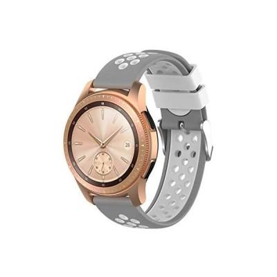XIHAMA for Samsung Galaxy Gear S2 classic huawei watch 2 バンド(グレー/白 20mm)