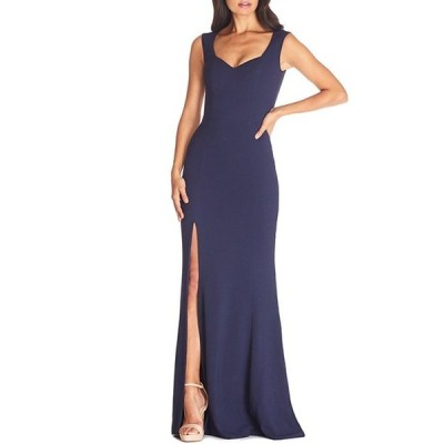 ドレスザポプレーション レディース ワンピース トップス Monroe Sweetheart Neck Front High Slit Long Gown