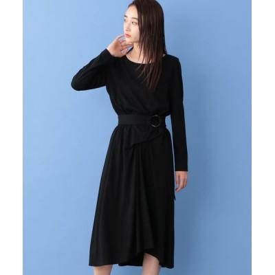 CAST:/キャスト コロン ベルテッド ジャージードレス ブラック S
