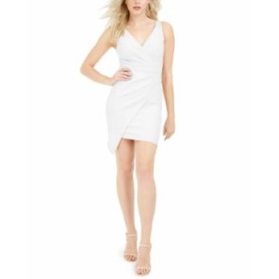 ゲス レディース ワンピース トップス V-Neck Asymmetrical Dress Ivory