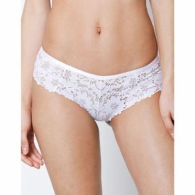 ニュールック ショーツのみ lace fishnet back brazilian briefs White