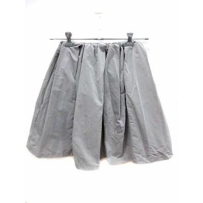 【中古】ココディール COCO DEAL スカート フレア ひざ丈 2 グレー /YI レディース
