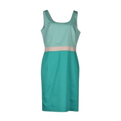 SEVENTY SERGIO TEGON ミニワンピース&ドレス グリーン 42 コットン 97% / ポリウレタン 3% ミニワンピース&ドレス