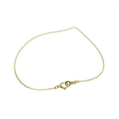ブレスレット チェーン 10金 イエローゴールド フラット小豆チェーン 幅0.8mm 長さ15cm 鎖 K10YG 10k 貴金属 ジュエリー レディース メンズ