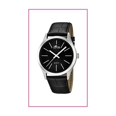 Lotus Men's Quartz Watch with Black Dial Analogue Display and Black Leather Strap 15961/3並行輸入品
