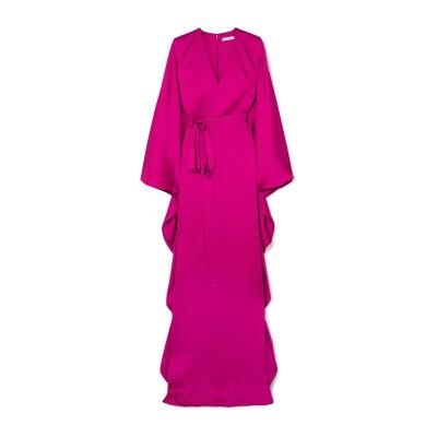 SAFIYAA ロングワンピース&ドレス フューシャ 34 シルク 100% ロングワンピース&ドレス