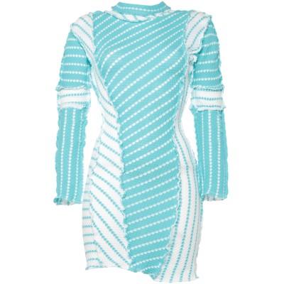 RICHARD MALONE ミニワンピース&ドレス アジュールブルー M コットン 100% ミニワンピース&ドレス