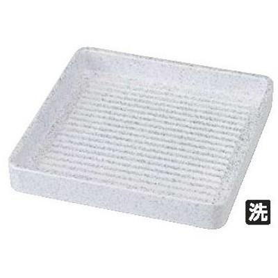 ABS製 正角肉皿 銀たたき 16cm 54250220