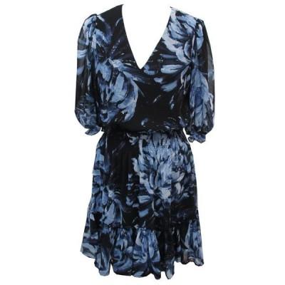 テイラー ワンピース トップス レディース Petite Smocked Dress Black Blue Bell