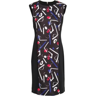 DKNY ミニワンピース&ドレス ブラック L ポリエステル 94% / ポリウレタン 6% ミニワンピース&ドレス