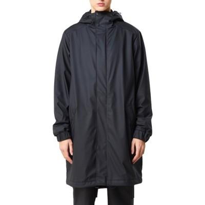 レインズ メンズ ジャケット&ブルゾン アウター Waterproof Hooded Quilted Jacket BLACK