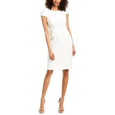 ホルストンヘリテイジ レディース ワンピース トップス Halston Heritage Sheath Dress white