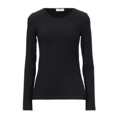 LE TRICOT PERUGIA T シャツ ブラック S レーヨン 96% / ポリウレタン 4% T シャツ