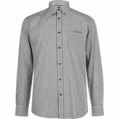 ピエール カルダン Pierre Cardin メンズ シャツ トップス Long Sleeve Shirt Black Check