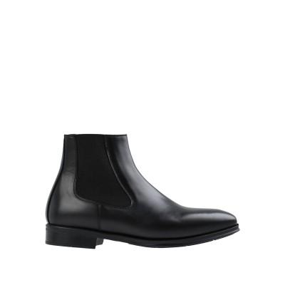 SOSTENE ショートブーツ ブラック 42 牛革(カーフ) 100% ショートブーツ