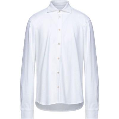 チルコロ1901 CIRCOLO 1901 メンズ シャツ トップス Solid Color Shirt White