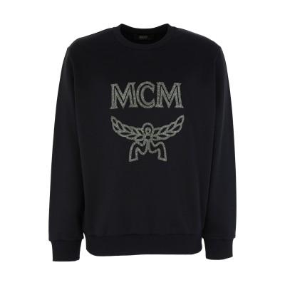 エムシーエム MCM スウェットシャツ ブラック S ナイロン 54% / コットン 46% / ポリウレタン / ポリエステル / ポリウレタン
