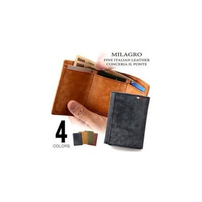 ビスポーク ミラグロ イタリアンヌバック三つ折り財布 CA-P-531 1個
