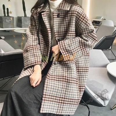 レディースコート薄手 厚手チェスターコートゆったりカジュアル綿いり長袖秋冬ジャケット通勤上品韓国風