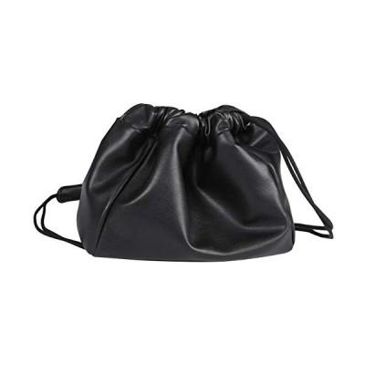 ショルダーバッグ レディース PUレザー巾着バッグ 肩がけ 斜めがけ 大人 ポーチ ミニバッグ 鞄 bag