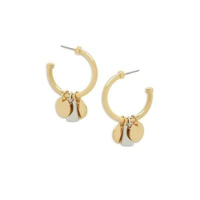 オールセインツ レディース ピアス・イヤリング アクセサリー Shaky Coin Charm C Hoop Earrings in Silver Tone & Gold Tone