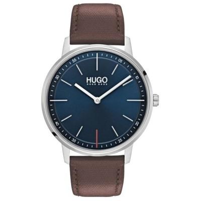 フューゴ メンズ 腕時計 アクセサリー Men's #Exist Ultra Slim Brown Leather Strap Watch 40mm