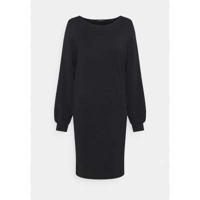 マルコポーロ ワンピース レディース トップス DRESS SHIRT BODY VOLUME SLEEVE - Day dress - black