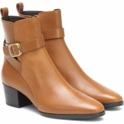 トッズ Tods レディース ブーツ ショートブーツ シューズ・靴 Leather Ankle Boots Kenia Scuro