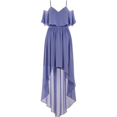 チチ Chi Chi レディース パーティードレス ワンピース・ドレス Cold Shoulder Dip Hem Dress Blue