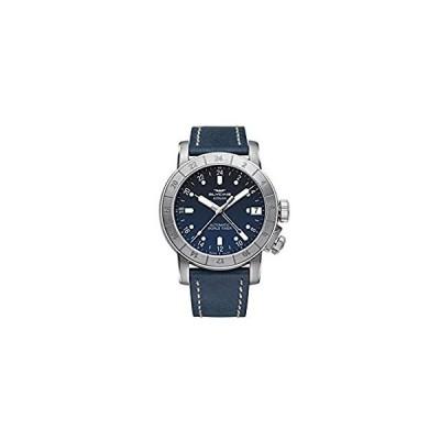【新品・送料無料】Glycine Airman GL0060 メンズ アナログ自動腕時計 レザーブレスレット付き