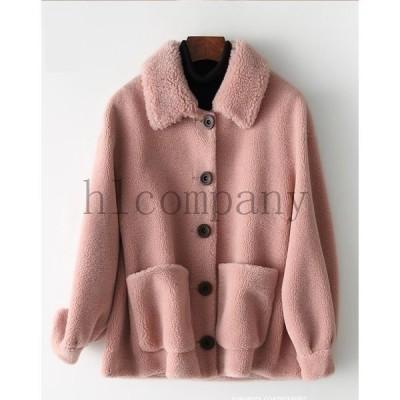 おしゃれショートコート上着ジャケットアウター暖かい冬物レディースオフィスOL通勤人気フェイクファー女性防寒毛皮コート