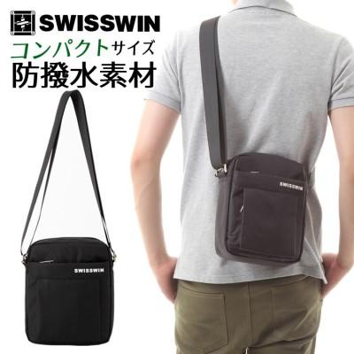 SWISSWIN SW5052V ショルダーバッグ メンズ 斜めがけ 軽い ショルダー ビジネスバッグ メンズバッグ レディース 斜めがけバッグ メッセンジャーバッグ