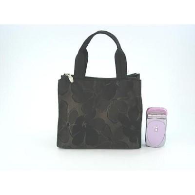 大花シャンブレーrk-2900-bk軽くて光沢感が変わる手さげハンドバッグ