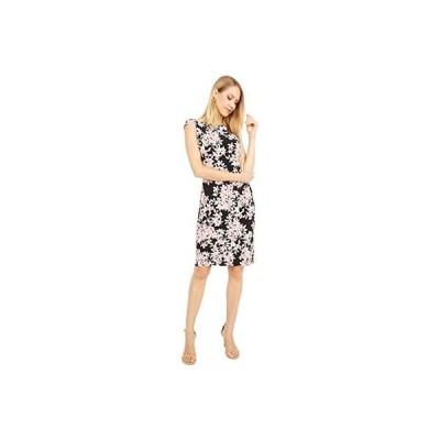 LAUREN Ralph Lauren Cap Sleeve Day Dress レディース ドレス Black/Pink/Multi