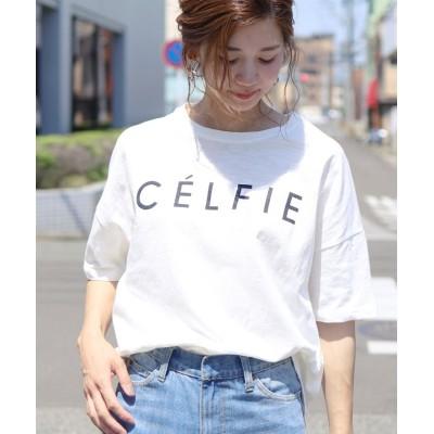 (reca/レカ)ロゴTシャツ-CELFIE/レディース ホワイト