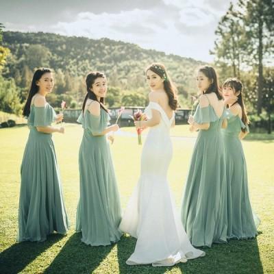 ウェディングドレス ゲストドレス ブライズメイドドレス お揃いドレス パーテイードレス ワンピース レディース フォーマル 結婚式 発表会 lf550h